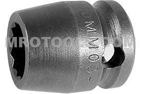 10MM03-D Apex 10mm 12-Point Metric Short Socket, 3/8'' Square Drive