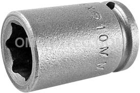10MM11 Apex 10mm Metric Standard Socket, 1/4'' Square Drive