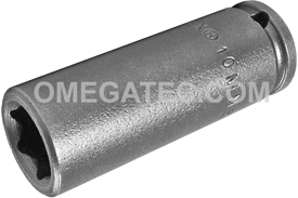10MM21 Apex 10mm Metric Long Socket, 1/4'' Square Drive