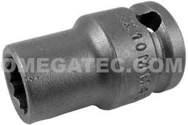 10MM43-D Apex 10mm 12 Point Metric Thin Wall Standard Socket, 3/8'' Square Drive