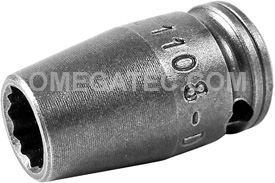 1108-D Apex 1/4'' 12-Point Standard Socket, 1/4'' Square Drive