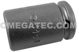 APEX 1114-D 7/16'' Standard Impact Socket, 1/4'' Square Drive