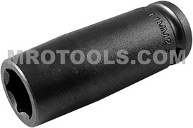 11MM23 Apex 11mm Metric Long Socket, 3/8'' Square Drive