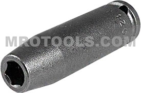 1207 Apex 7/32'' Long Socket, 1/4'' Square Drive