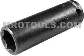 1212 Apex 3/8'' Long Socket, 1/4'' Square Drive