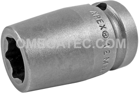 12MM15 Apex 12mm Metric Standard Socket, 1/2'' Square Drive