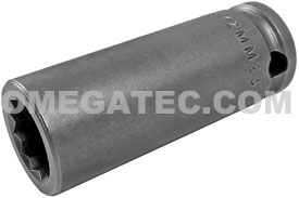 12MM23-D Apex 12mm 12 Point Metric Long Socket, 3/8'' Square Drive