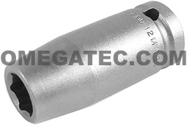 12MM25 Apex 12mm Metric Long Socket, 1/2'' Square Drive