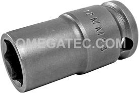 APEX 12MM43 12mm Standard Impact Socket, Thin Wall, 3/8'' Square Drive
