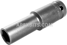 13MM55 Apex 13mm Thin Wall Metric Extra Long Socket, 1/2'' Square Drive