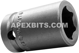 15MM15 Apex 15mm Metric Standard Socket, 1/2'' Square Drive