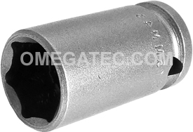 APEX 15MM43 15mm Standard Impact Socket, Thin Wall, 3/8'' Square Drive