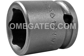 16MM03 Apex 16mm Metric Short Socket, 3/8'' Square Drive