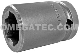 16MM15 Apex 16mm Metric Standard Socket, 1/2'' Square Drive