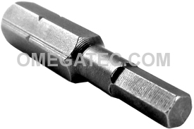 185-4MM Apex 1/4'' Socket Head (Hex-Allen) Hex Insert Bits, Metric