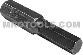 185-4X Apex 1/4'' Socket Head (Hex-Allen) Hex Insert Bits, SAE