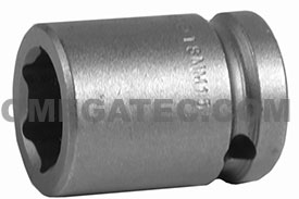 APEX 18MM15 18mm Standard Impact Socket, 1/2'' Square Drive