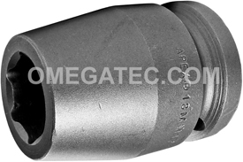 18MM17 Apex 18mm Metric Standard Socket, 3/4'' Square Drive