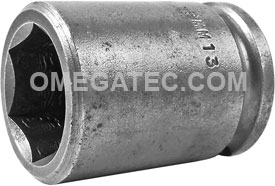 19MM13 Apex 19mm Metric Standard Socket, 3/8'' Square Drive