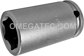 APEX 19MM23 19mm Long Impact Socket, 3/8'' Square Drive