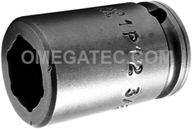 APEX 1P12 3/8'' Impact Socket, Magnetic, For Sheet Metal Screw, Self-Drilling And Tapping Screws, 1/4'' Square Drive