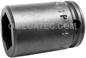 1P14 Apex 7/16'' Standard Socket, For Sheet Metal Screw, Self-Drilling And Tapping Screws, 1/4'' Square Drive
