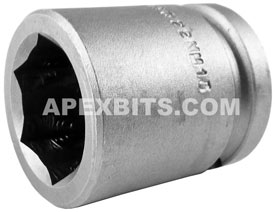 APEX 22MM15 22mm Standard Impact Socket, 1/2'' Square Drive