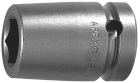22MM15-D Apex 22mm 12-Point Metric Standard Socket, 1/2'' Square Drive