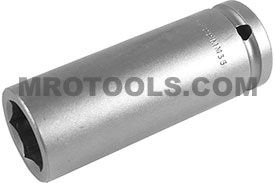 22MM35 Apex 22mm Metric Extra Long Socket, 1/2'' Square Drive