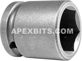 24MM15 Apex 24mm Metric Standard Socket, 1/2'' Square Drive