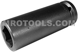 APEX 24MM37 24mm Extra Long Impact Socket, 3/4'' Square Drive