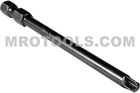 APEX 265-6 #6 Torq-Set Power Drive Bits, 1/4'' Hex Drive