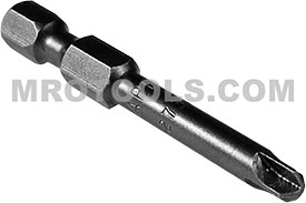 APEX 273A-6 #6 Torq-Set Power Drive Bits, 1/4'' Hex Drive
