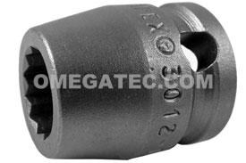 3012-D Apex 3/8'' 12 Point Short Socket, 3/8'' Square Drive