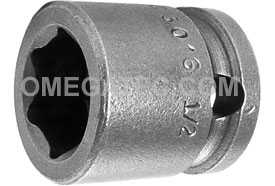 APEX 3016 1/2'' Short Impact Socket, 3/8'' Square Drive
