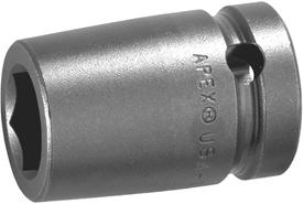 3022-D Apex 11/16''12 Point Short Socket, 3/8'' Square Drive