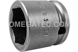 APEX 3024 3/4'' Short Impact Socket, 3/8'' Square Drive