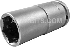 30MM55 Apex 30mm Thin Wall Metric Extra Long Socket, 1/2'' Square Drive