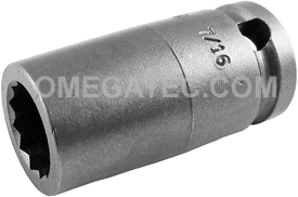 3114-D Apex 7/16'' 12 Point Standard Socket, 3/8'' Square Drive