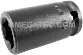3116 Apex 1/2'' Standard Socket, 3/8'' Square Drive