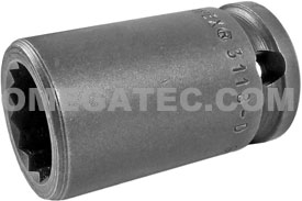 3118-D Apex 9/16'' 12 Point Standard Socket, 3/8'' Square Drive