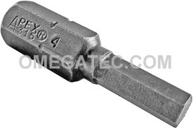 315-4X 5/16'' Apex Brand Socket Head (Hex-Allen) Insert Bits