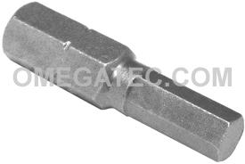 315-5X 5/16'' Apex Brand Socket Head (Hex-Allen) Insert Bits