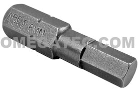 315-6MM Apex 5/16'' Socket Head (Hex-Allen) Hex Insert Bits, Metric