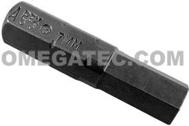 315-7MM Apex 5/16'' Socket Head (Hex-Allen) Hex Insert Bits, Metric