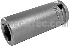 3216 Apex 1/2'' Long Socket, 3/8'' Square Drive