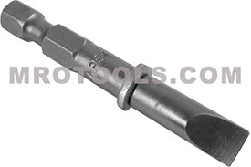 APEX 322-OLX Extra Short Slotted Power Drive Bits, 1/4'' Hex Drive