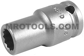 APEX 3412-D 3/8'' Standard Impact Socket, Thin Wall, 3/8'' Square Drive