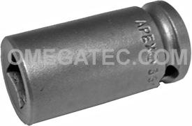 APEX 3612 3/8'' Single Square Nut Socket, 3/8'' Square Drive