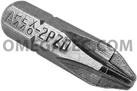 440-2-PZDX Apex 1/4'' Pozidriv #2 Hex Insert Bits